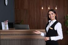 Portrait Of Receptionist At De...