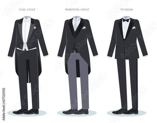 Obraz na plátně tail-coat morning-coat tuxedo_set