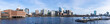 canvas print picture Boston Downtown Panorama