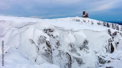 Fototapeta Śnieżne Kotły, zima w górach, Karkonosze, Sudety obraz