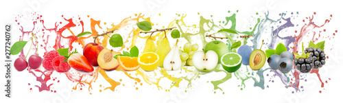 Stickers pour portes Jus, Sirop Fruit Splash Collection