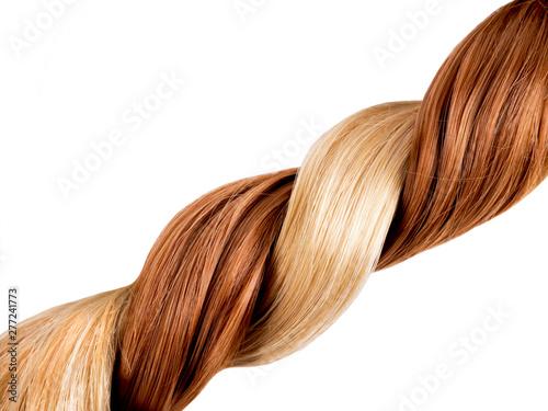 Obraz Blond and red hair braid - fototapety do salonu