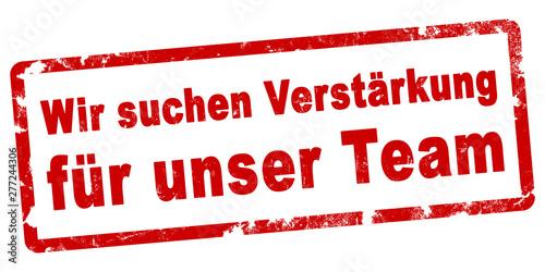nlsb711 NewLongStampBanner nlsb - german text - Wir suchen Verstärkung für unser Canvas Print