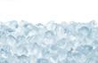 Leinwandbild Motiv heap of crashed ice on white background