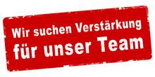 Nlsb712 NewLongStampBanner Nlsb - German Text - Wir Suchen Verstärkung Für Unser Team - Stempel / Einfach / Rot / Vorlage - Seitenverhältnis 2:1 - 2zu1 - New-version - Xxl G8019