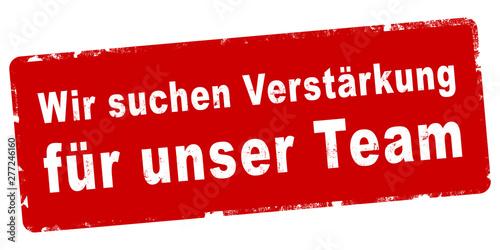 Photo nlsb712 NewLongStampBanner nlsb - german text - Wir suchen Verstärkung für unser