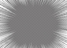 長方形の集中線、放射線のみの背景_漫画コミックの背景(白)_バックグラウンド・ベクターデータ