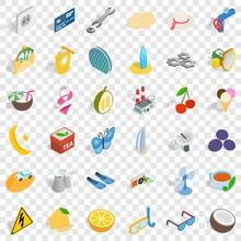 Dubai Icons Set. Isometric Sty...