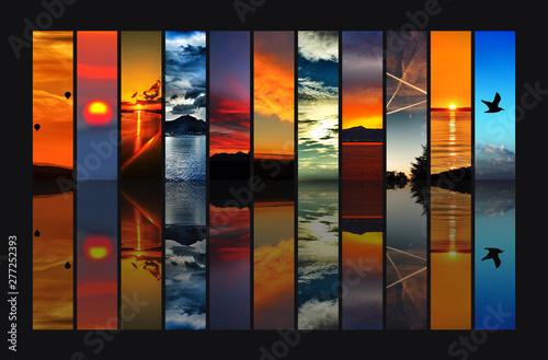 Fotografie, Obraz  Sonnenuntergang Collage