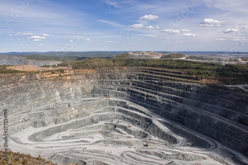 Fototapeta Aerial view industrial of opencast mining