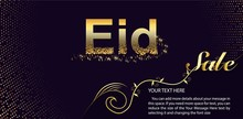 Eid Al Fitr Sale Vector Design For Banner And Poster. Beautiful Greeting Card Design With Stylish Text Eid Ul-Adha.