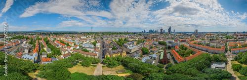 Deurstickers Noord Europa frankfurt city kurfürstenplatz 360° aerial skypanorama