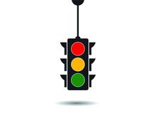 Traffic Light Icon, Vector Illustration, Eps 10
