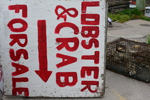 Lobster And Crap Sign Upside Down