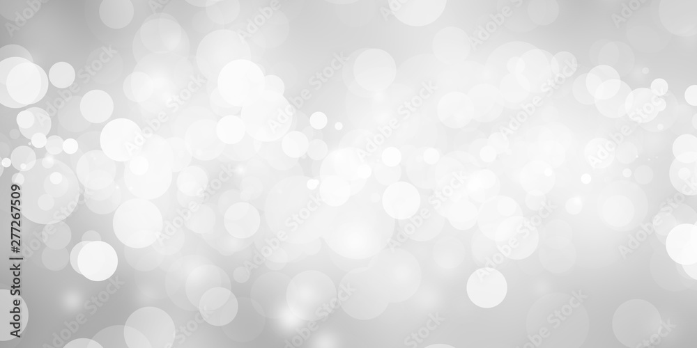 Fototapety, obrazy: white blur abstract background. bokeh christmas blurred beautiful shiny Christmas lights