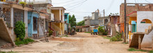 Panoramic Street View Of A Sma...