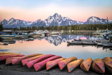 Sunrise On Colter Bay Marina