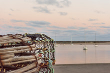 Crab Pots By The Sea Port.