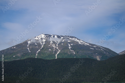 Snowcovered Mountain in the Summer