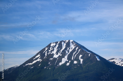 Snowy Mountain Peak in Alaska