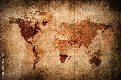 Mapa świata w stylu retro tekstura tło