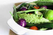 Garden Fresh Mix Vegetable In Basket Top View