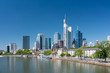 Frankfurt am Main, Germany. Vew of the skyscrapers in city centre. Sunny summer day