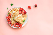 Crepes With Ricotta, Strawberr...