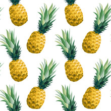 Seamless Summer Pattern With P...
