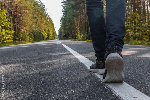 Obraz One step of going forward - fototapety do salonu
