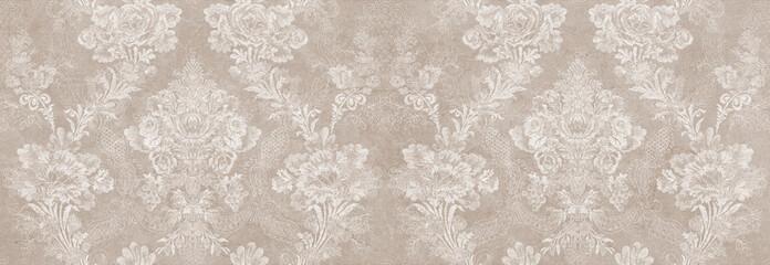 vintage damask seamless pattern background