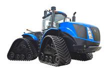 Large Crawler Tractor With Rub...