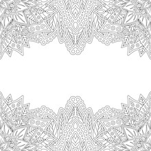 Abstract Linear Background For Coloring Book Page
