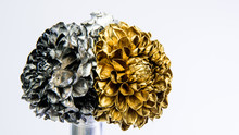 Silver And Gold Chrysanthemum ...