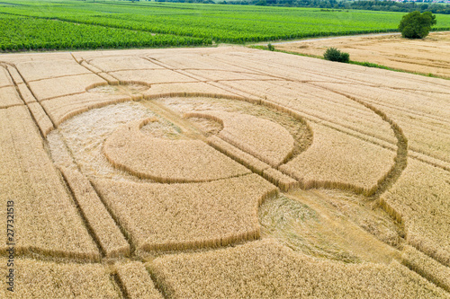 Photographie crop circles field Alsace France