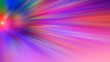 canvas print picture - Radial blurred abstract color background light colors red, pink, yellow, blue, green, purple.