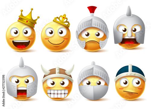Papel de parede Smiley face vector character set