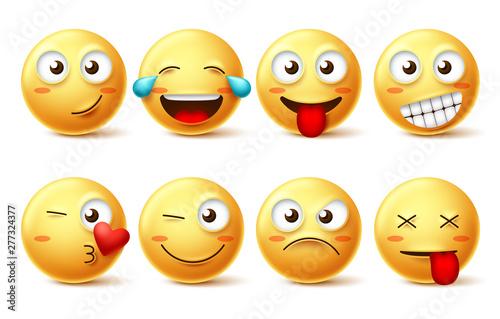 Photo Smiley face vector set