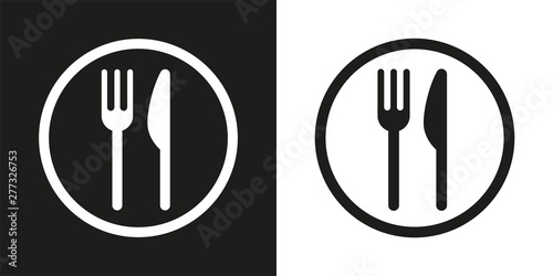 Fotografia sign with fork and knife