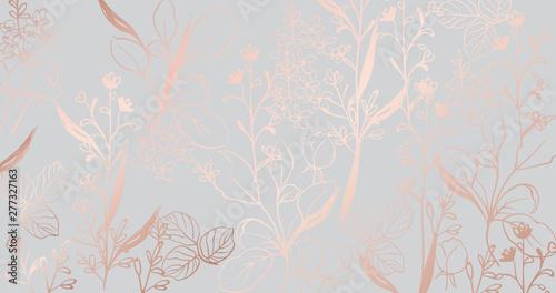 Fototapeta Vintage golden marble pattern Vector. Beautiful glossy texture. golden gray structure decors obraz