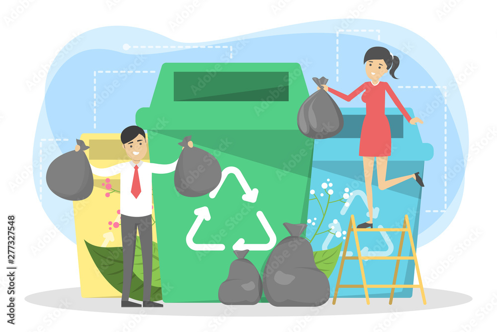 Fototapety, obrazy: Recycle concept. Ecology and environment care. Idea of garbage