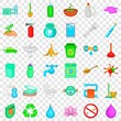 Emblem icons set. Cartoon style of 36 emblem vector icons for web for any design