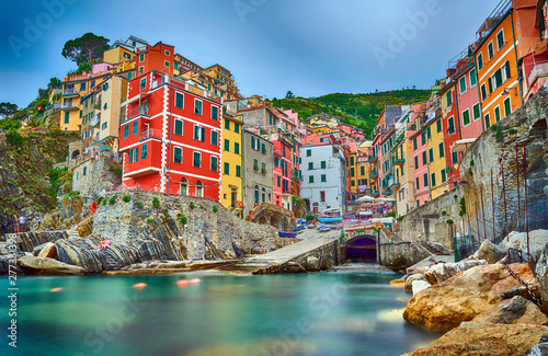 Famous city of Riomaggiore in Italy