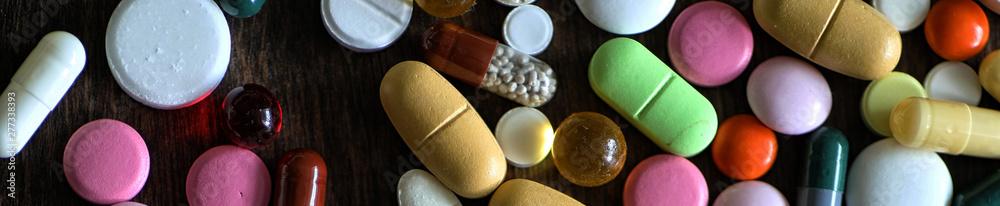 Fototapety, obrazy: Long background of  medications