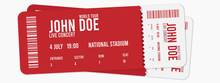 Concert Ticket Vector Template...