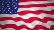 USA flag waving background