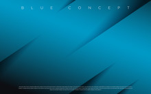 Black Premium Background With Luxury Blue Pattern And Lines. Rich Background For Poster Premium Design.