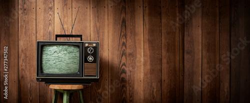 Obraz TV-Vintage | Ultra XXL Widescreen - fototapety do salonu
