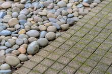 Pebble Stone And  Cement Walkw...
