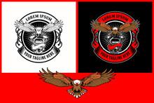 Set Of Eagle Motorcycle Engine Badge Logo Vector